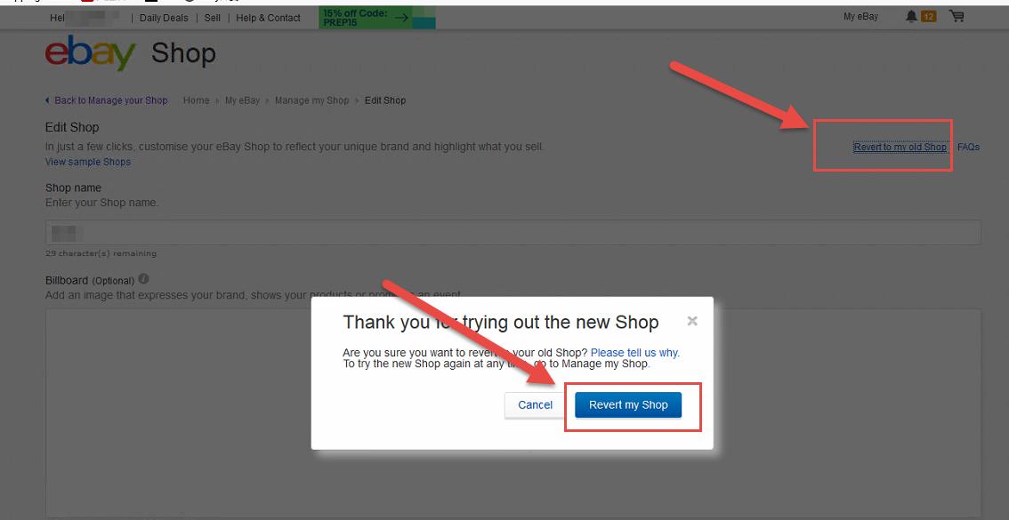 02 已经订阅了ebay店铺首页模板 Storefront Template 并采用 为什么在ebay显示不出来